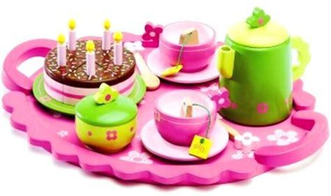 djeco wooden birthday tea party set djeco birthday party tea set pink my wooden toys