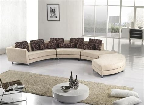 circular sofas living room furniture modern fabric sectional sofas sleeper l shape corner couches