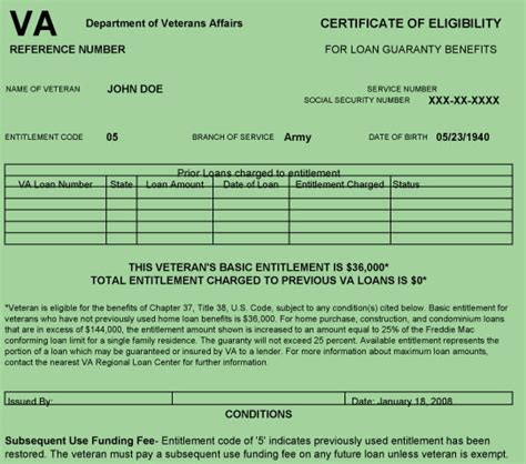 alf img showing gt certificate of eligibility va