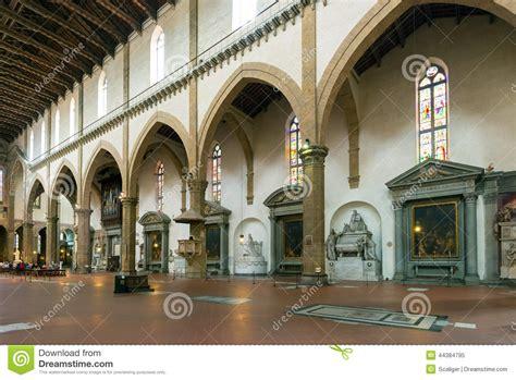santa croce interno l interno della basilica di santa croce a firenze immagine