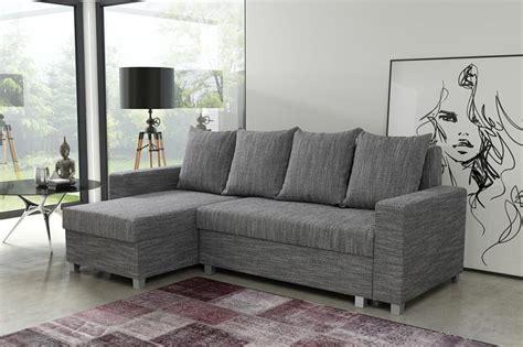 Moderne Schlafcouch 547 schlafsofa sofa ecksofa eckcouch hellgrau