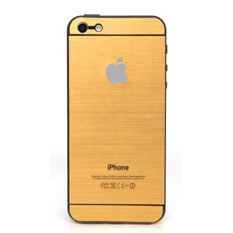 Folien Aufkleber Gold by Iphone 5 5s Schutzfolie Aufkleber Gold Folie R 252 Ckseite