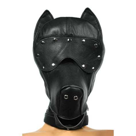 leather puppy mask ultimate leather mask pets store der petplay spezialist