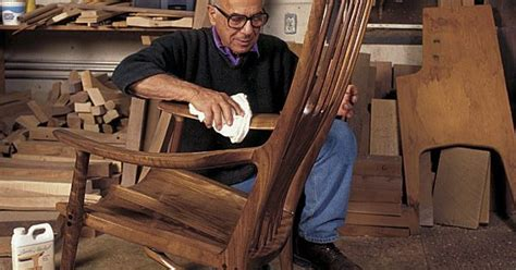 hold you in his armchair sam maloof with one of his amazing rocking chairs his