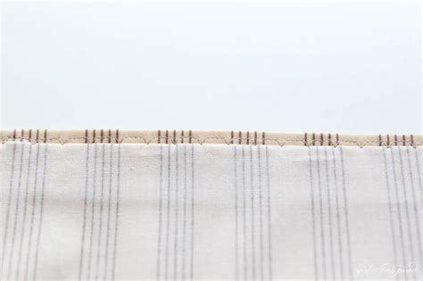 curtain stitching tutorial simple curtains sewing tutorial girl inspired