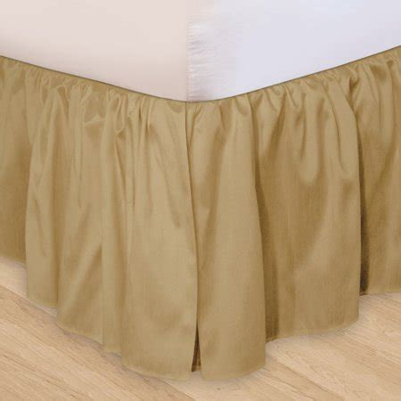 ruffled 3pc adjustable bed skirt walmart