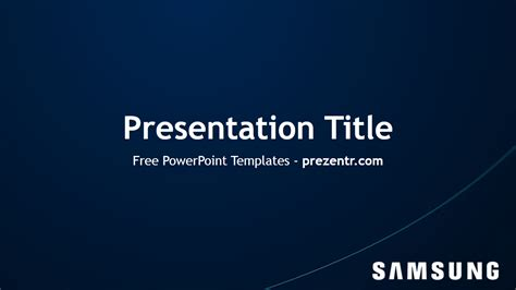 samsung powerpoint template preview prezentr