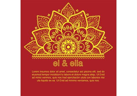 hindu invitation card template indian wedding card template free vector