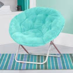 teen bedroom chair folding aqua soft plush saucer chair seat dorm furniture
