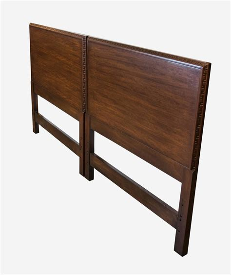 One Headboards by Pair Of Frank Lloyd Wright For Henredon Headboards At