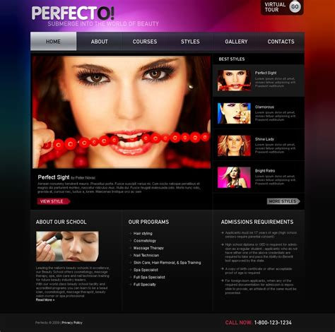 Beauty Salon Website Template 23781 Hair Salon Website Design Templates Free