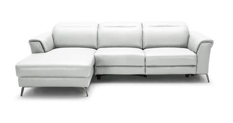 white leather sofa recliner divani casa mosley modern white leather sectional sofa w