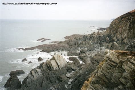 rock formation on the coast near ilfracombe and ilfracombe to woolacombe http www