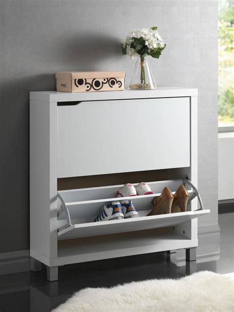modern shoe cabinet simms white modern shoe cabinet fp 2ous white ebay