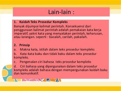 membuat teks prosedur cara melakukan sesuatu teks prosedur kompleks bahasa indonesia