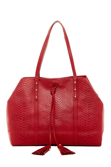 Get Look Hiltons Fiore Tote by Fiore Margo Leather Tote Nordstrom Rack