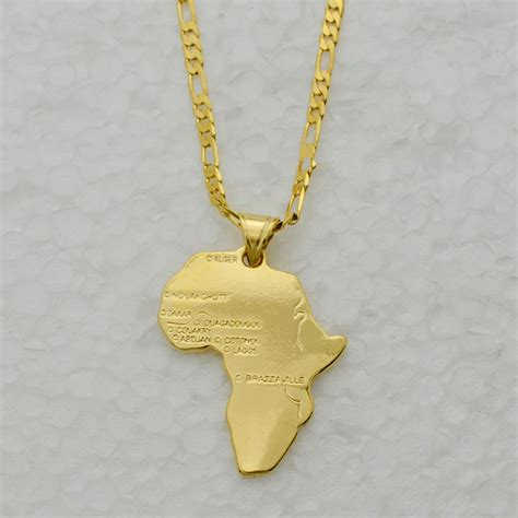 africa map pendant necklace aliexpress buy 8 style map of africa pendant