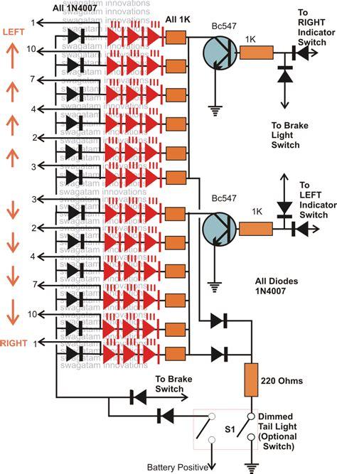 hobby electronic circuits car led chasing light