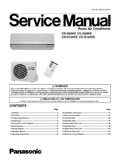 Ac Panasonic Jogja 100 split air conditioner user manual sharp co jasa