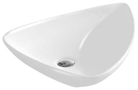 Triangular Bathroom Sinks by Vitreous China Triangular Vessel Sink White 25 56