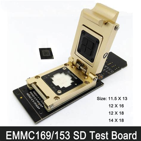 Bor Ic Emmc fbga169 fbga153 emmc programmer test board emmc 153 169 adapter reader flash testing test socket