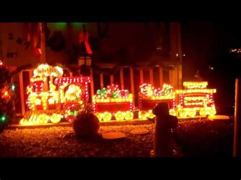 christmas outdoor halogrphic train decoration holographic outdoor display