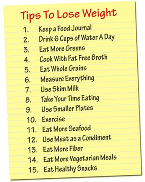 15 Tips On How To Your Weight by 15 Tips To Lose Weight Weight Loss