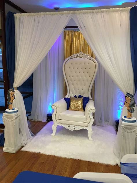 royal blue and gold baby shower chair theme baby shower ideas baby showers