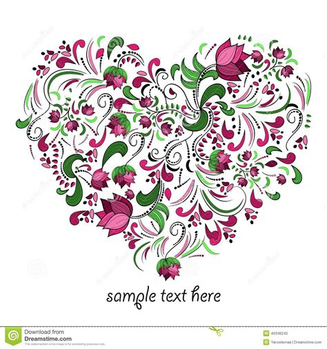 stylish heart design royalty free bright heart made of flowers in vector stock vector