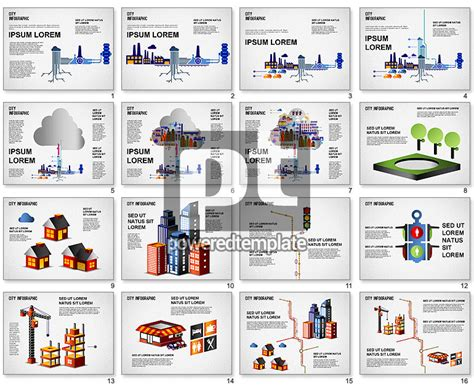 infographics template powerpoint city infographics for powerpoint presentations