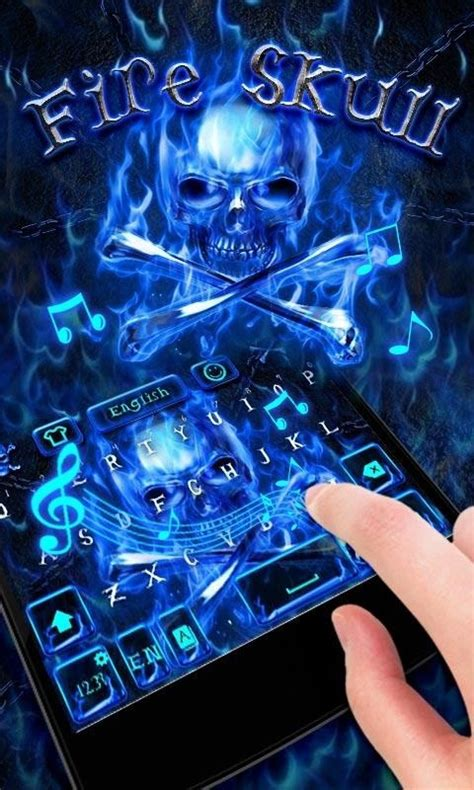 go keyboard themes skull fire skull go keyboard theme free android theme download