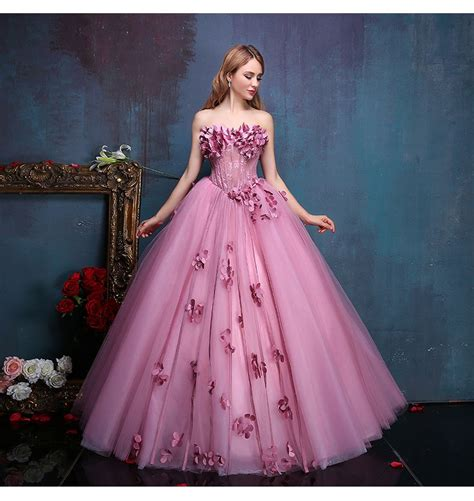 Dress Princes 100 real flower beading floral vine gown