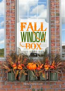 Low Budget Home Decor Ideas create a fall window box oh my creative