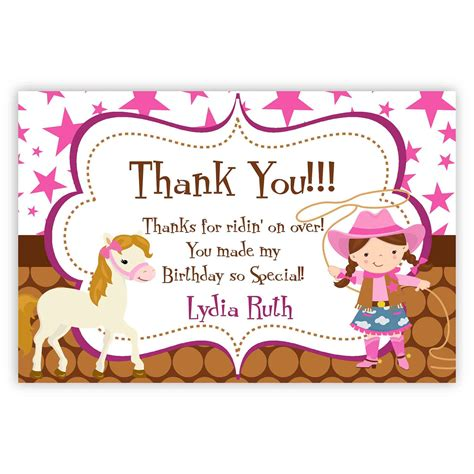 4th Birthday Thank You Card Wording