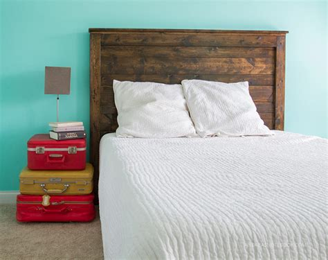 how to build a rustic headboard how to make a diy rustic headboard