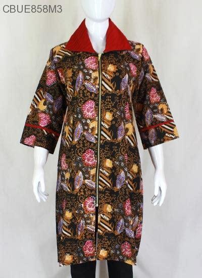 Tunik Batik Motif tunik purwasih motif bunga blus lengan tanggung murah