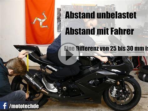 Motorrad Federbein Eintragung by Motorradfahrwerk Federvorspannung Negativfederweg