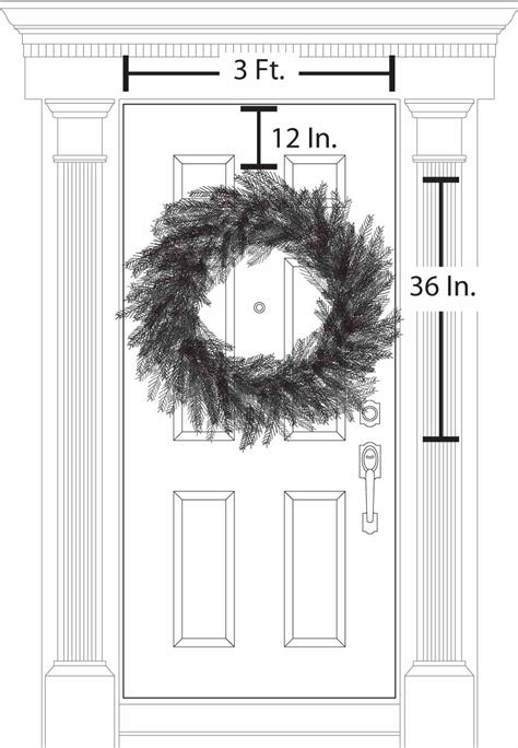 36 inch wreath how to choose the right size wreath how to decorate
