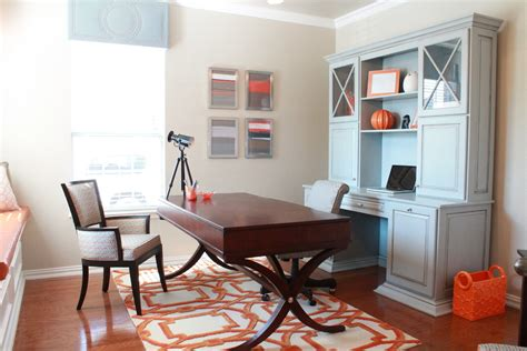 Rug In Office by White Desk With Hutch Home Office With