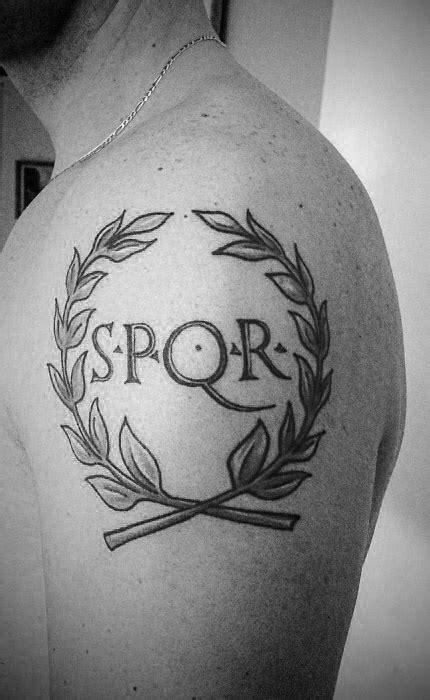 spqr tattoo designs 40 spqr designs for senātus populusque