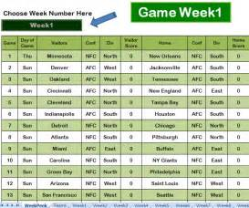 nfl football pool template nfl football pool sheets