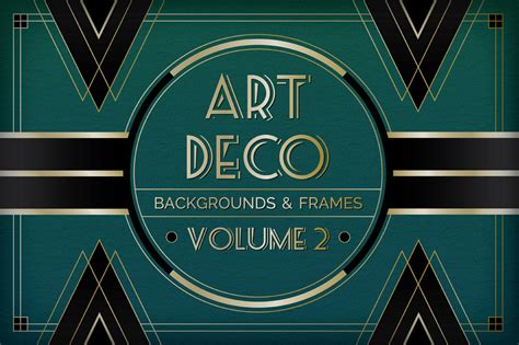 art deco background and frames vol 2