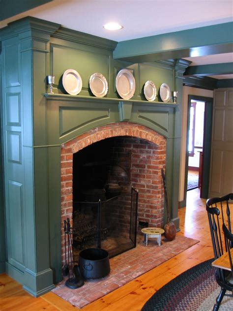 Colonial Fireplace by Cch Interiors Gallery Traditional Indoor Fireplaces