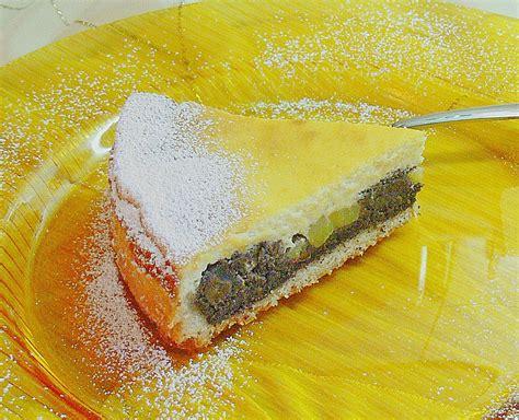 kalorienarmer kuchen mit quark topfen quark mohn kuchen mit birnen rezept mit bild