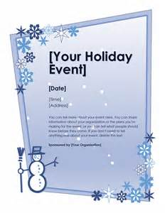 download winter holiday event flyer free flyer templates
