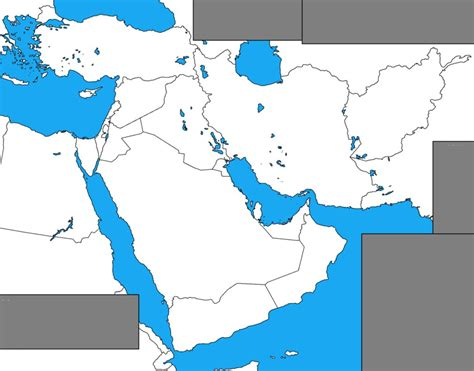 middle east map empty blank map of the middle east by dinospain on deviantart