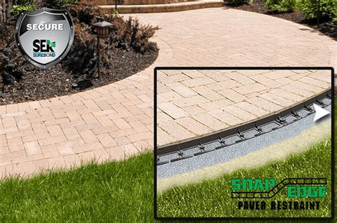patio jointing sand block paver accessories how to install edge restraint