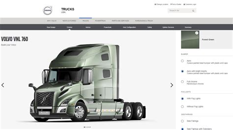 volvo truck configurator configurator volvo trucks canada