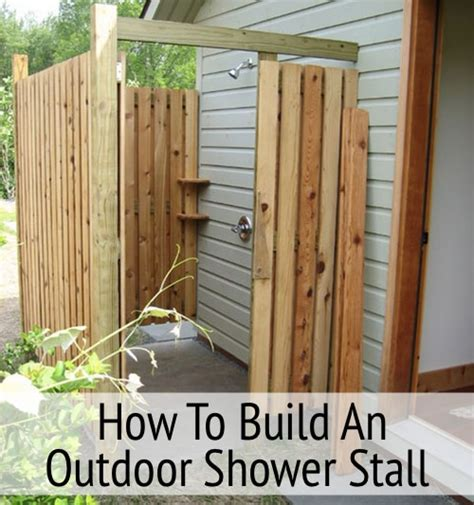 how to make an outdoor bathroom how to build an outdoor shower stall homestead survival