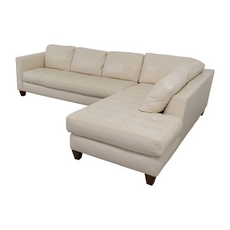 2 piece leather sectional sofa 72 off macy s macy s milano white leather two piece